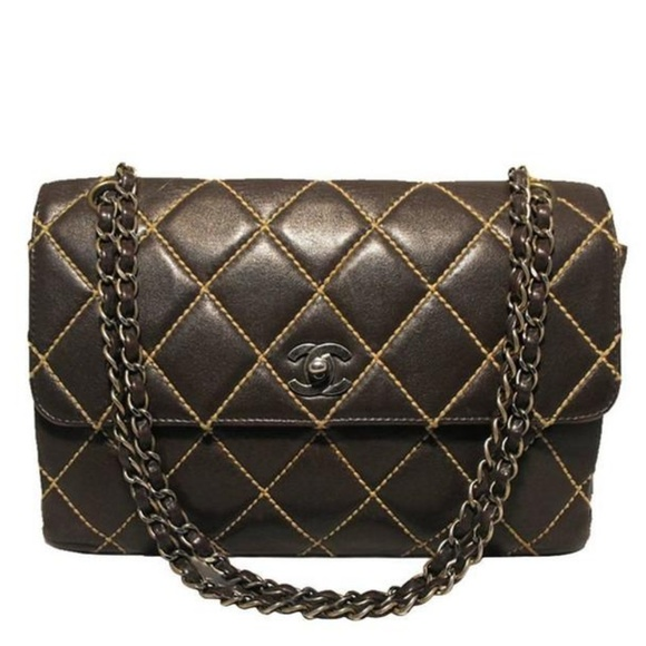 7d1caaf7bcea7b CHANEL Bags | Brown Leather Topstitch Maxi Classic | Poshmark